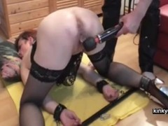 fisting slave Jane until she squirts Thumb