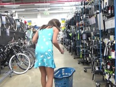 Brunette Cindy masturbates in the fitting room of a sports shop Thumb