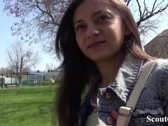 GERMAN SCOUT - KLEINE NUTTE SHRIMA MALATI HART BEI FAKE CASTING GEFICKT Thumb
