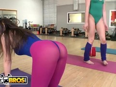 BANGBROS - Yoga Lesbian Threesome With Mercedes Lynn, Karina White, and Chloe Lynn Thumb