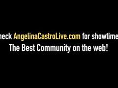 BBW Angelina Castro & Milf Sara Jay - Pussy Licking Lessons! Thumb