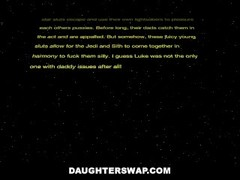 DaughterSwap - Fucking Each Others Pussies With Light Sabers Thumb