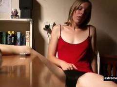 my sister masturbates at dining table Thumb