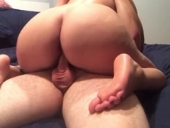 Riding and twerking on his cock + Creampie finish Thumb