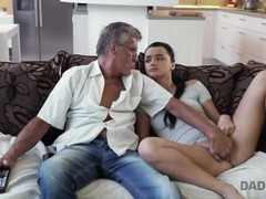 DADDY4K. Naughty girl Erica Black seduces BF's dad to fuck her pussy Thumb