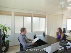 LOAN4K. Loan agent tells beautiful teen how to gain some easy money Thumb