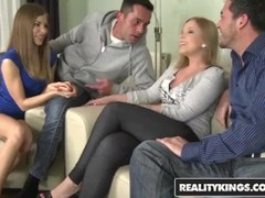 Reality Kings - Avril Sun and Eve Fox get fucked in euro 4some Thumb