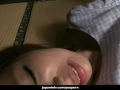 Lusty Japanese babe Seto Himari cums while being drilled hard Thumb