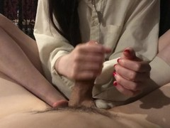 Daddy Edges and denies after using her slut Thumb