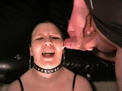 Totally creamed face and facial cumshot Thumb