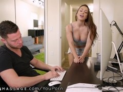 NuruMassage Abigail Mac Begs Step-Bro to Get in the Shower Thumb