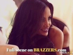 BRAZZERS - Slutty cheerleader Raven Bay take big dick in the locker room Thumb