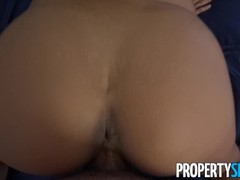 PropertySex - Petite hottie agent pounded by handyman's big cock Thumb