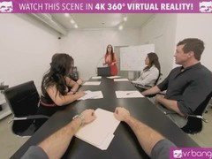 VRBangers Busty brunette Angela White fucking hard in public Thumb