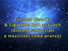 Crushed Biscuits & Cigarette Butts... as Lunch! (Fetish Obsession) Thumb