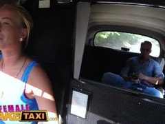 Female Fake Taxi Horny slim blonde driver in sweaty taxi backseat fuck Thumb