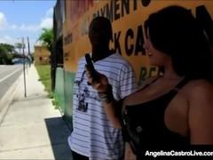 Latina BBW Angelina Castro Fucked By A Big Black Dick! Thumb
