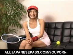 Japanese Kaoru Hayami looks smoking hot in her white tennis outfit - More at hotajp.com Thumb