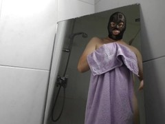 Mirror Pissing. Man peeing, wanking & cumshot. Jerking off Golden Shower male Urine Wet and Pissy Ma Thumb