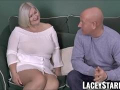 LACEYSTARR - Busty GILF negotiates a good pussy deal Thumb