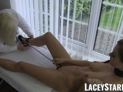 LACEYSTARR - Beautiful dyke pussy examined by doctor GILF Thumb
