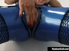 Rubberist RubberDoll Tongue Fucked By Raven Black! Thumb