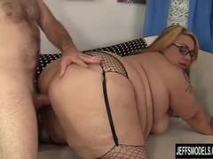 Round n Raunchy BBW Mia Riley Sucks Cock Before Taking a Good Hard Fucking Thumb