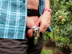 chastity and piss in the public! 06 (HD) Thumb