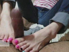 Gorgeous Japanese Korean Goddess Gives Footjob And Teases With Her Soles Thumb