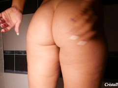 MILF Playing with Big Ass and Pussy in bathroom Thumb