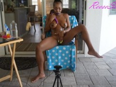 Reese Simone Poolside Masturbation Anal and Squirt Thumb