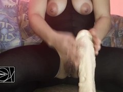 riding my big big dildo I love fat and big cocks Thumb