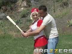 BRAZZERS - Sporty teens Kagney Linn Karter & Lylith Lavey share a cock after the ball game Thumb