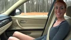 Sexy Redhead GF giving Road Head Thumb