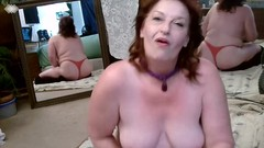 V 324 Curvy Mature DawnSkye smokes and teases Thumb
