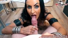 Stark geschminkte Milf - german skinny big tits mature gothic hooker pov homemade Thumb