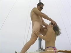 Cute blonde amateur sucks and fucks on a sailboat Thumb