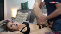 MyDirtyHobby - Gorgeous babe Hanna Secret made him cum twice in her mouth Thumb